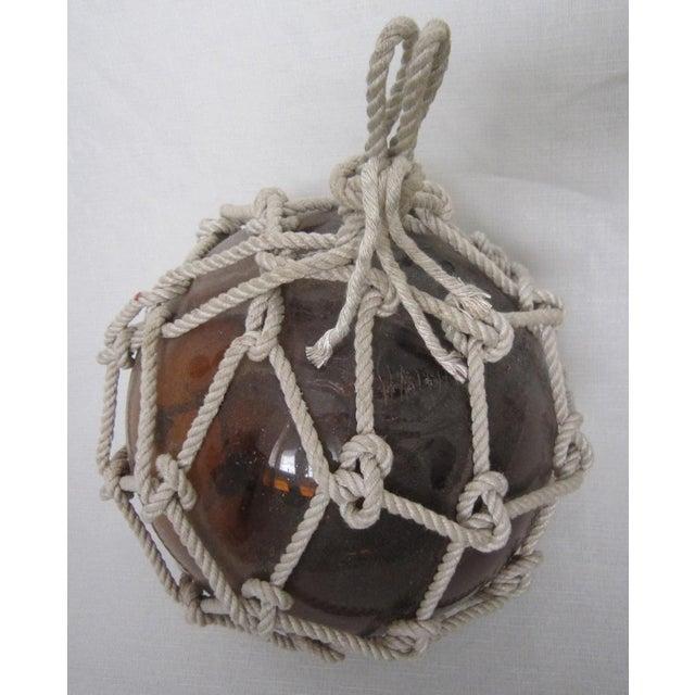 Amber Glass Fishing Float - Image 3 of 4