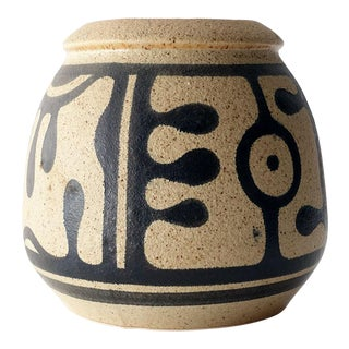 1960s Hand Painted Stoneware by Daria for Lapid Pottery Works Israel For Sale