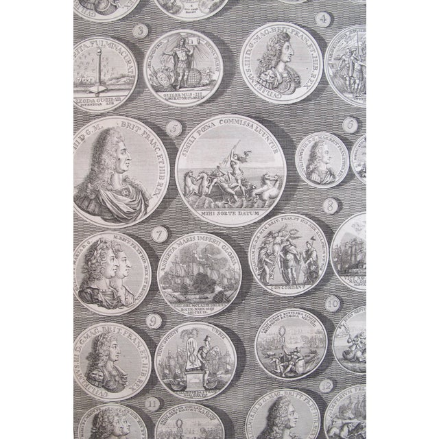 Original 1745 British Engravings, Royal Medals - A Pair - Image 7 of 9