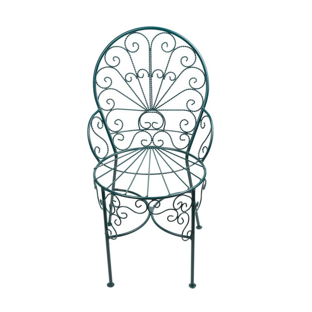 French Twisted Wire Peacock Chairs - Set of 3 - Image 2 of 3