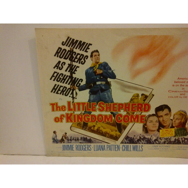 "Mid-Century Modern Vintage Movie Poster ""The Little Shepherd of Kingdom Come"" For Sale - Image 3 of 5"