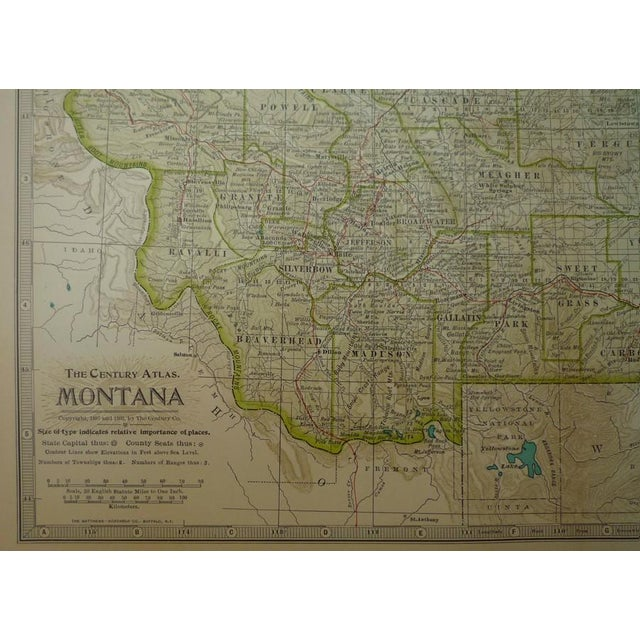 Antique Map of Montana C. 1902 - Image 2 of 4