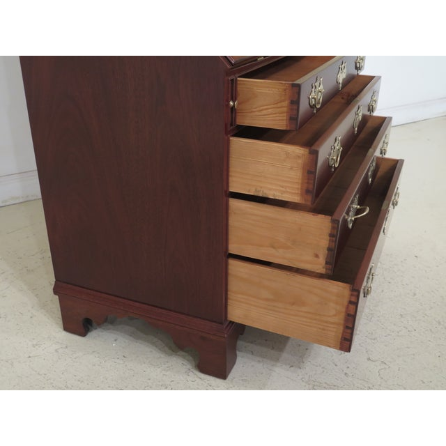 1970s Vintage Kittinger Colonial Williamsburg Mahogany Desk For Sale - Image 10 of 13