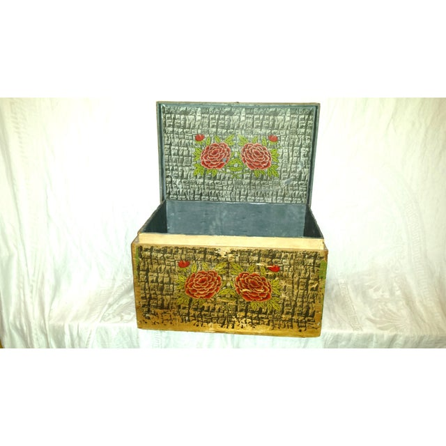 Lg. Victorian Fruit and Nut Delivery Box For Sale - Image 4 of 11