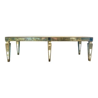 MCM Hollywood Regency Mirrored Coffee Table For Sale
