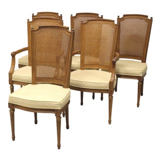 Henredon French Provincial Louis XVI Caned Dining Chairs - Set of 6 For Sale