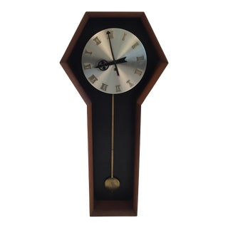 Howard Miller Company Mid-Century Wall Clock For Sale