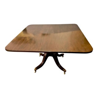 19th Century English Regency Mahogany Tilt Top Dining Table For Sale