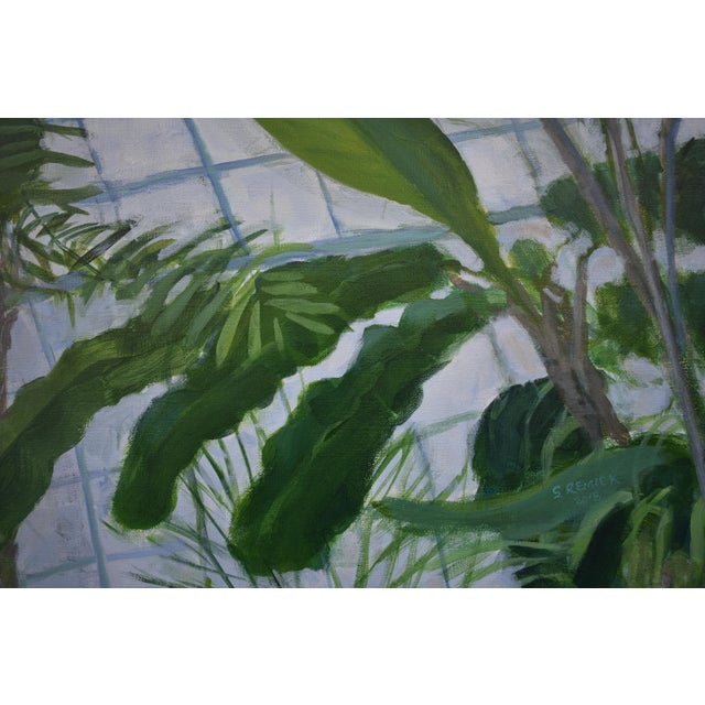 """Contemporary """"Greenhouse in Winter"""" Contemporary Painting by Stephen Remick For Sale - Image 3 of 11"""