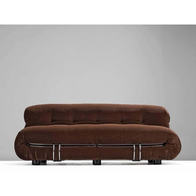 Mid-Century Modern Afra and Tobia Scarpa Soriana Sofa For Sale - Image 3 of 7