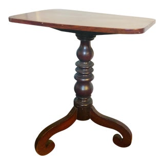 19th Century Early American Mahogany Candle Stand For Sale