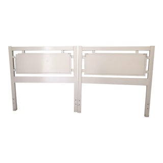 Vintage White Dixie Twin Bed Headboards - a Pair For Sale