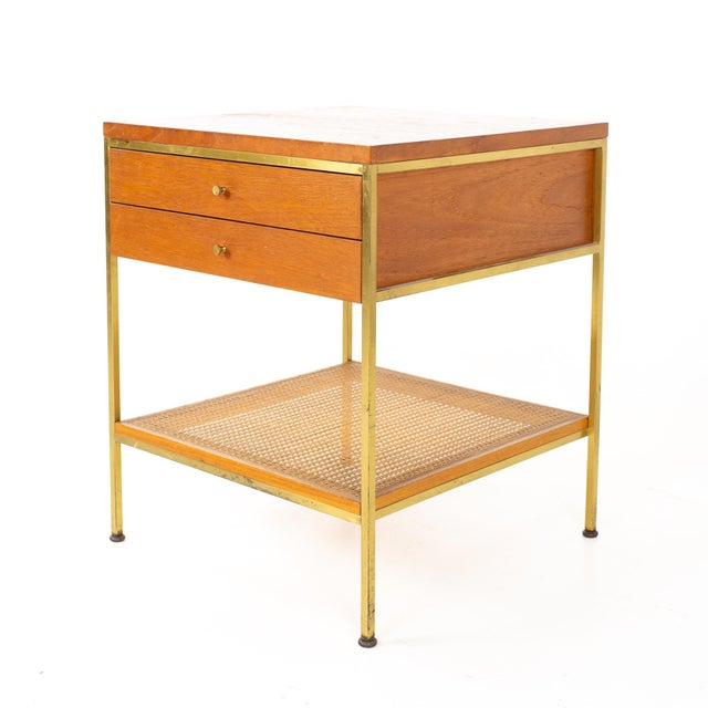 Mid-Century Modern Paul McCobb for Calvin Group Mid Century Oak and Brass Nightstand For Sale - Image 3 of 13