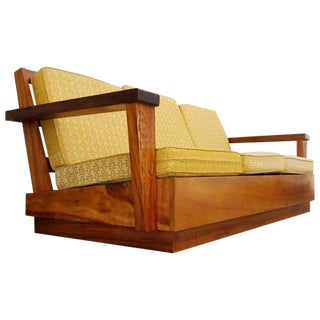 Hand-Carved Solid Koa Sofa For Sale