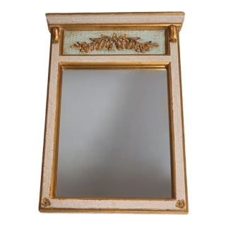 Vintage Hand Carved Trumeau Mirror by Dauphine For Sale
