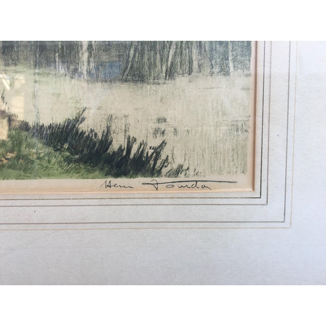 Exquisite etching by French artist Henri Jourdain. Beautifully framed and eye catching subject that takes you into the...