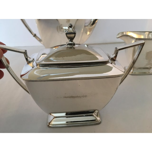 Vintage Silver Plate Pairpoint Co. Sheffield Tea Service Set - Set of 4 - Image 4 of 11