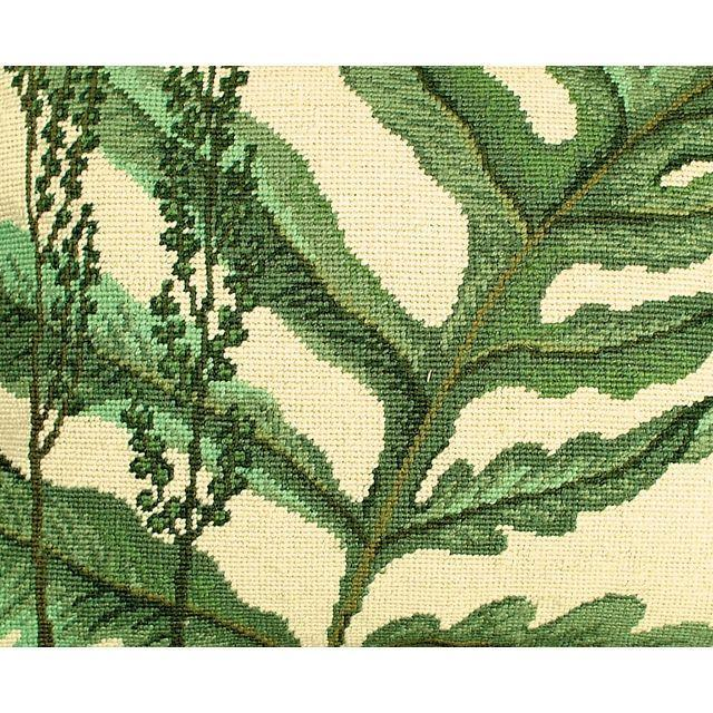 Fern Needlepoint Pillows - A Pair - Image 3 of 4