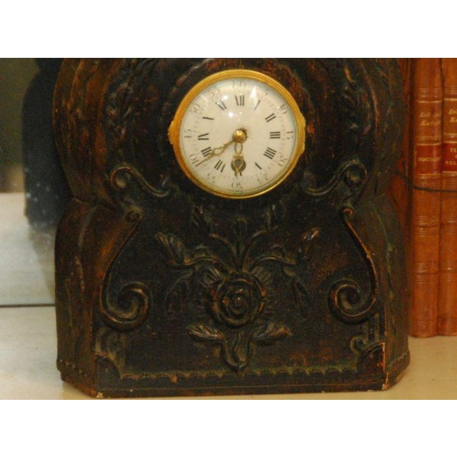 19th Century Carved Clock For Sale - Image 4 of 4