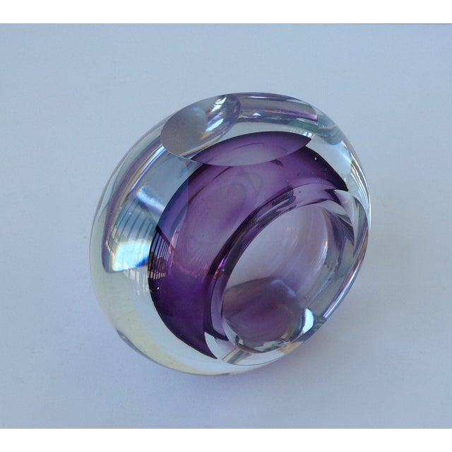 Italian Murano Sommerso Purple & Clear Bowl For Sale In West Palm - Image 6 of 11