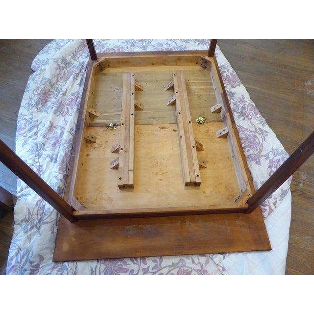 Wood Vintage Modern Walnut Dining Table For Sale - Image 7 of 8