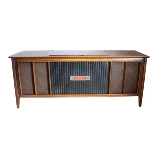 1960's Vintage RCA Victor Victrola Record Player Console Credenza Stereo For Sale