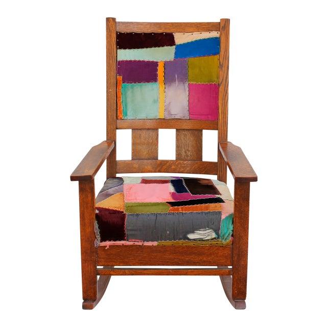 patchwork rocking chair chairish. Black Bedroom Furniture Sets. Home Design Ideas