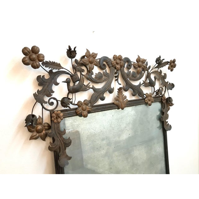 Incredible vintage custom wall mirror in excellent condition. Made in the 1970s.