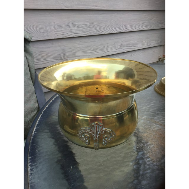 1970s Mid-Century Modern Solid Brass Pedestal and Urn For Sale - Image 10 of 12