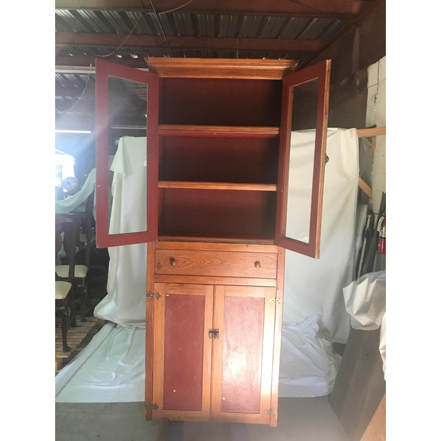 Late 19th Century Vintage Rustic Pine Kitchen Cabinet For Sale - Image 5 of 7