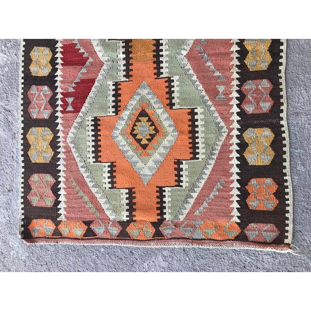 1930s Vintage Turkish Anatolian Kilim Rug For Sale - Image 4 of 12