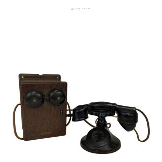 Antique Western Electric Wood Telephone For Sale