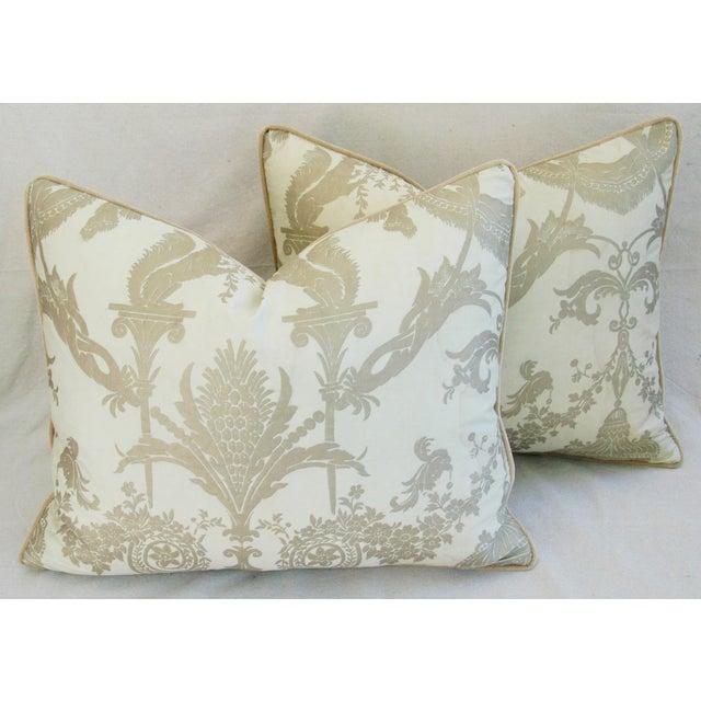 Designer Italian Fortuny Lamballe Pillows - Pair - Image 8 of 11