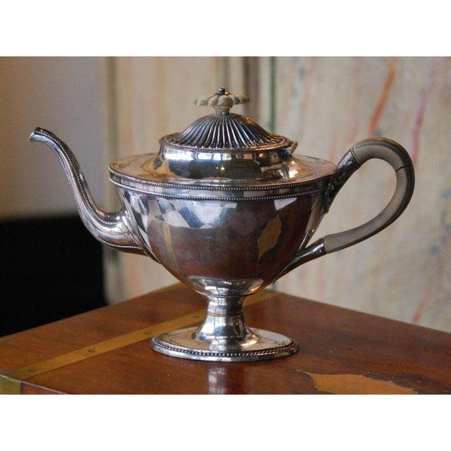 Silver Plated Tea Pot Circa 1952, Engraved.