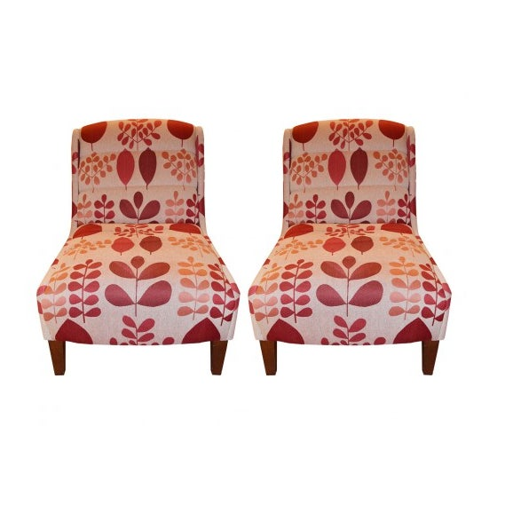 Michael Berman Traditional Slipper Chairs - Set of 2 - Image 1 of 7