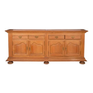 French Country Oak Buffet Cabinet For Sale