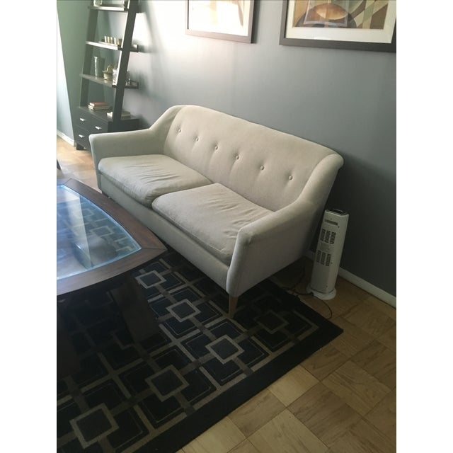 West Elm Frost Gray Chenille Tweed Finn Sofa - Image 4 of 5