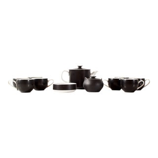 Ben Siebel for Mikasa Pivotal Pattern Tea Service for 8 - Set of 13 For Sale