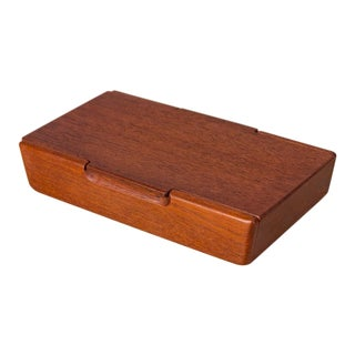 Small Danish Modern Carved Teak Box