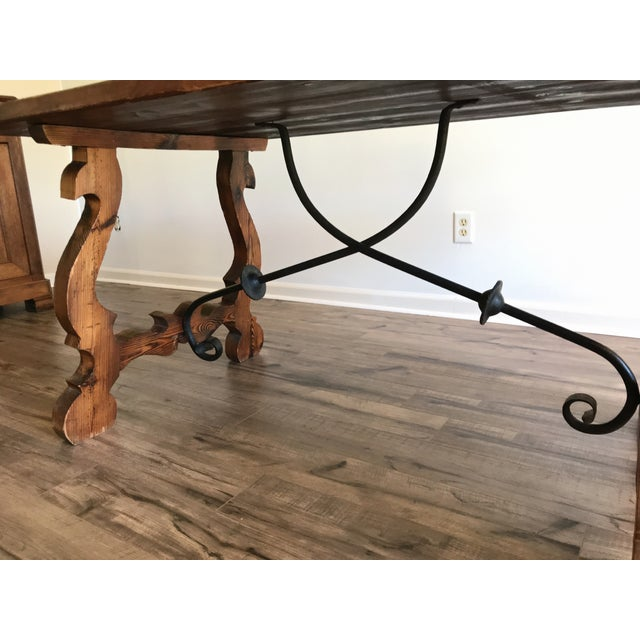 19th Century Spanish Trestle Table or Desk For Sale - Image 9 of 10