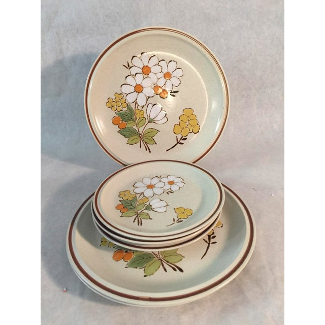 1970s Hand Painted 70's Hearthside Stoneware - Set of 6 For Sale - Image 4 of 4