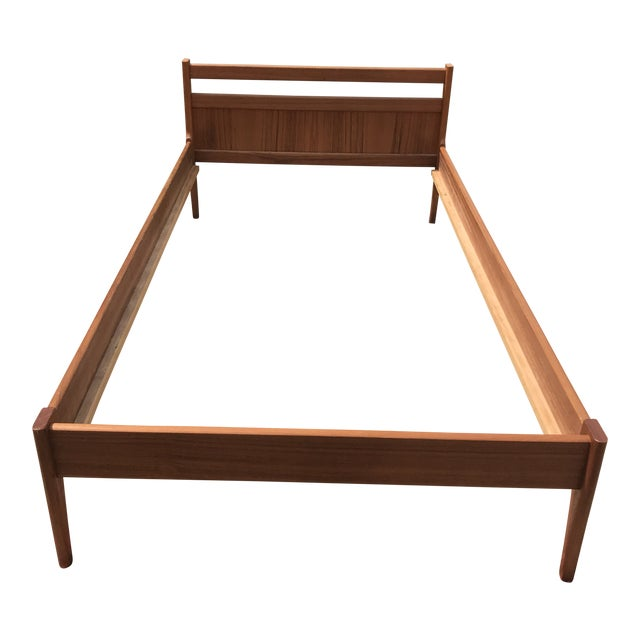 1960s Danish Modern Teakwood Bedframe For Sale