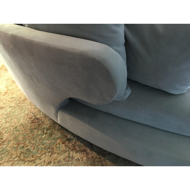 Fabric Vintage Mid Century Modern Curved Sectional Couch B&b Italia Style For Sale - Image 7 of 11
