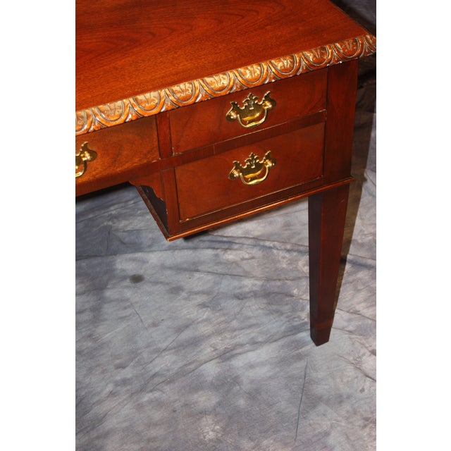 Late 20th Century Baker, Historic Charleston Collection Writing Desk For Sale - Image 5 of 9