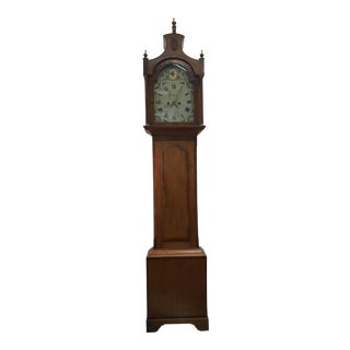 17th Century Federal Cherrywood Tall Case Clock With Movement