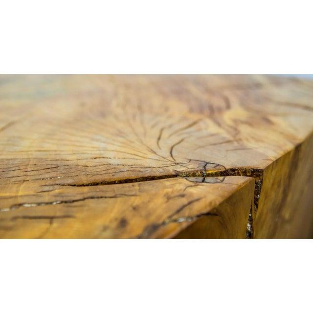 Wood Huge Solid American Studio Coffee Table or Stool by Howard Werner For Sale - Image 7 of 8