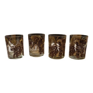 Elephant Tumblers - Set of 4 For Sale