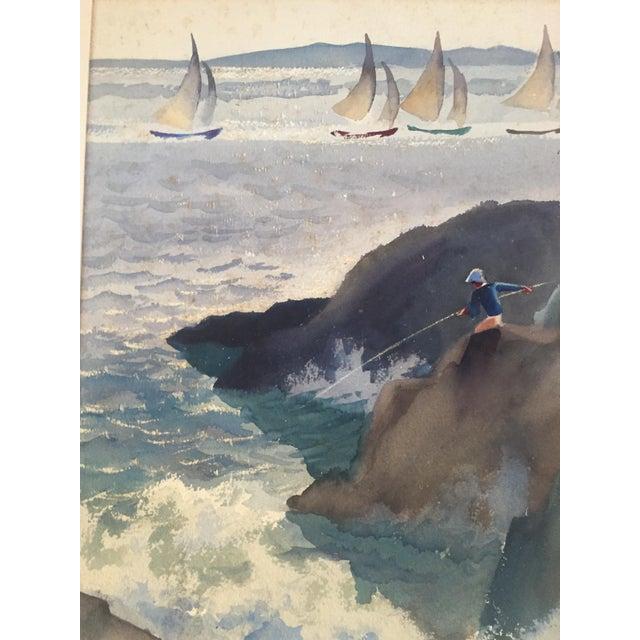 David L. Swasey Original Palais Bourbon, Paris on Reverse Side Watercolor Seascape Painting For Sale - Image 13 of 13