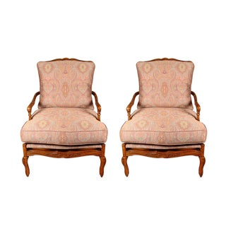Provincial Louis XV Style Chairs - A Pair