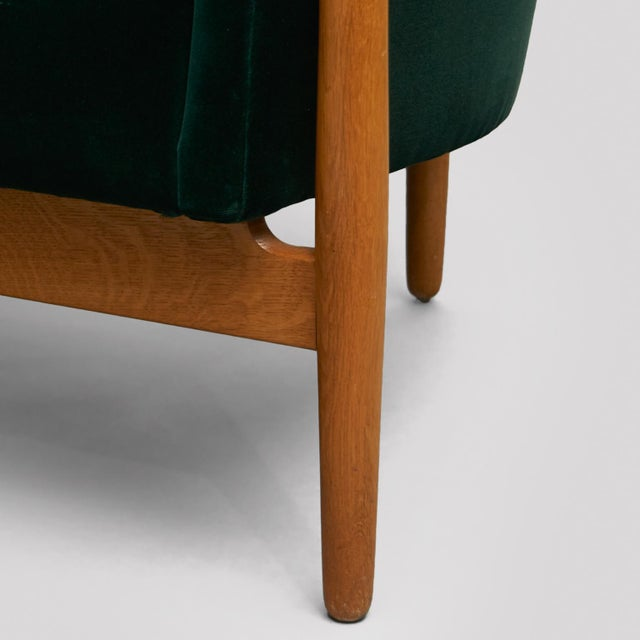Green Nanna Ditzel Curved-Arm Sofa For Sale - Image 8 of 9
